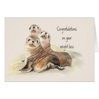 Congratulations Weight Loss  Humor Cute Seals Card