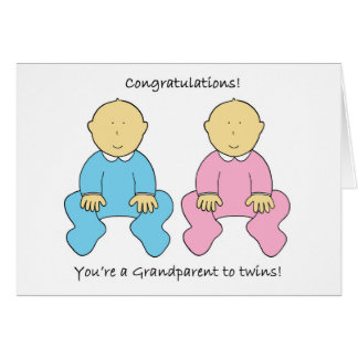 Congratulations, you're a Grandparent to twins. Card