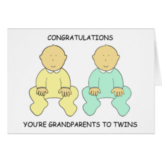 Congratulations, you're Grandparents. Card