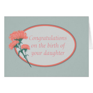 Congraulations Birth of Daughter Card