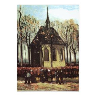 "Congregation exiting Church in Nuenen - van Gogh 5"" X 7"" Invitation Card"