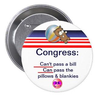 Congress 3 Inch Round Button