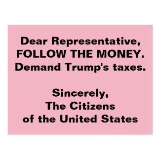 Congress Follow the Trump Money Russia Resistance Postcard
