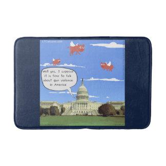 Congress & Gun Talk When Pigs Fly Bath Mat