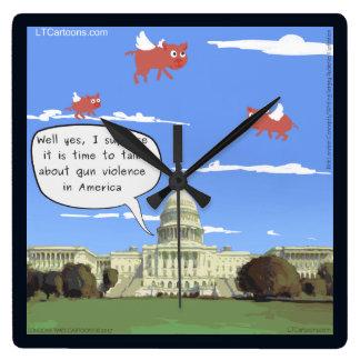 Congress & Gun Talk When Pigs Fly Wall Clock