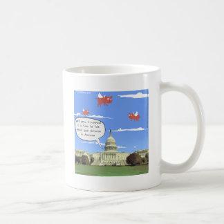Congress & Gun Violence Talk When Pigs Fly Coffee Mug
