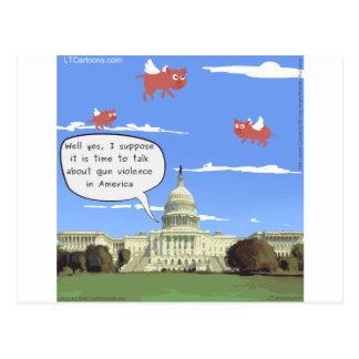 Congress & Gun Violence Talk When Pigs Fly Postcard