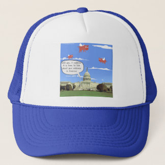 Congress & Gun Violence Talk When Pigs Fly Trucker Hat