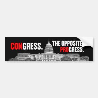 Congress Opposite of Progress Bumper Sticker