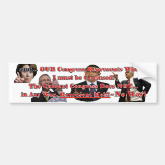 Congress Out of Control Bumper Sticker