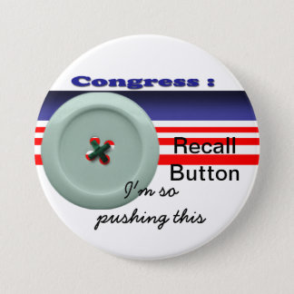 Congress recall 3 inch round button