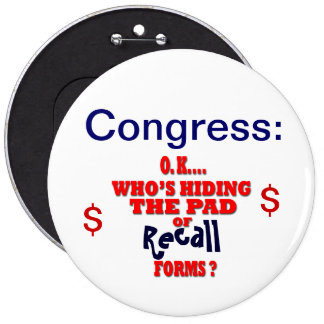 Congress Recall 6 Inch Round Button