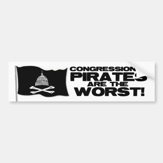 Congressional Pirates Bumper Sticker