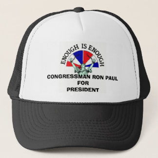 CONGRESSMAN RON PAUL FOR PRESIDENT TRUCKER HAT