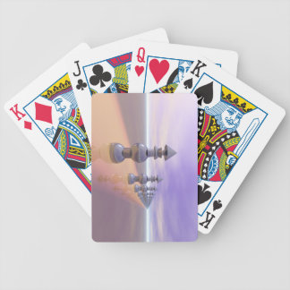 Conical Geometric Progression Bicycle Playing Cards