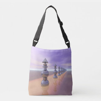 Conical Geometric Progression Crossbody Bag