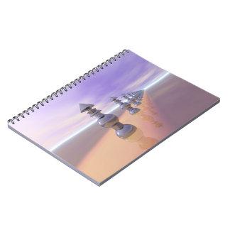 Conical Geometric Progression Spiral Notebook