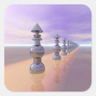 Conical Geometric Progression Square Sticker