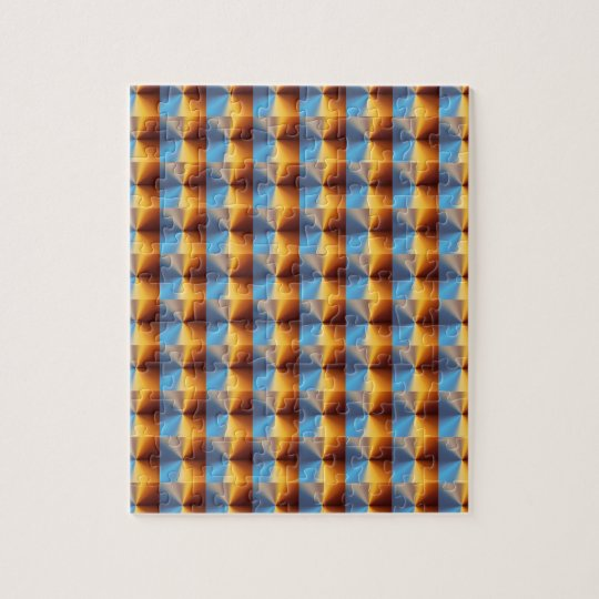 Conical metallic gradient jigsaw puzzle