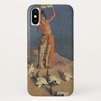 Conjuring Back the Buffalo by Frederic Remington iPhone X Case