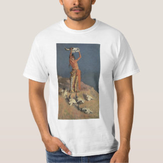 Conjuring Back the Buffalo by Frederic Remington Tees