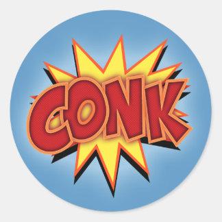 Conk! Round Sticker