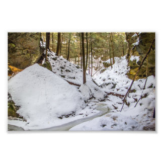 Conkle's Hollow in Winter Photo Print