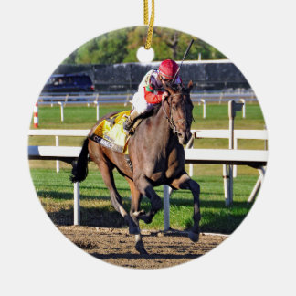 Connect, Pennslyvania Derby Winner Round Ceramic Ornament