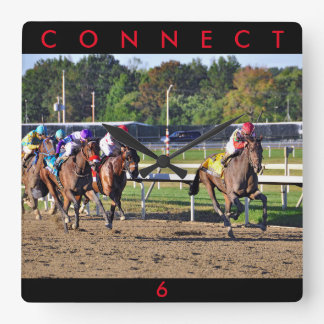 Connect, Pennslyvania Derby Winner Square Wall Clock