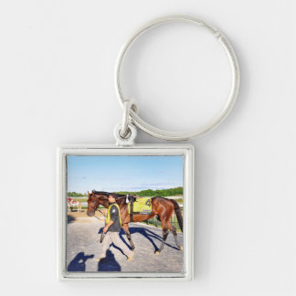 Connect - Pennsylvania Derby Winner Silver-Colored Square Keychain