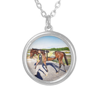 Connect - Pennsylvania Derby Winner Silver Plated Necklace