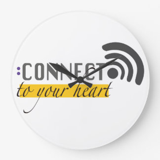 Connect to your heart | Wall clock