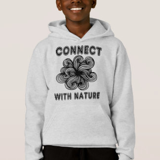 """""""Connect with Nature"""" Girls' Fleece Hoodie"""
