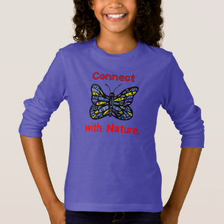 """""""Connect with Nature"""" Girls' Long Sleeve T-Shirt"""