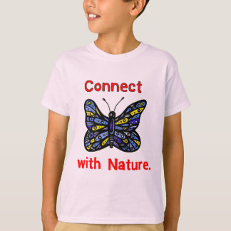 """""""Connect with Nature"""" Kids Hanes TAGLESS® T-Shirt"""