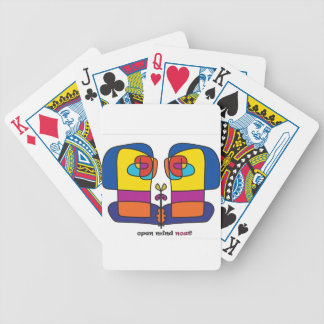connected artist design face faces bicycle playing cards