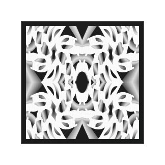 Connected by Lin Masters-White,Black,Gray Canvas Print