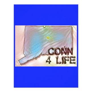 """Connecticut 4 Life"" State Map Pride Design Personalized Letterhead"