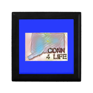 """""""Connecticut 4 Life"""" State Map Pride Design Trinket Boxes"""