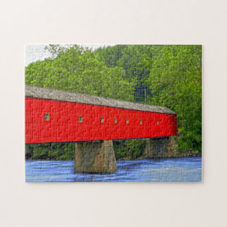 Connecticut Covered Bridge. Jigsaw Puzzle