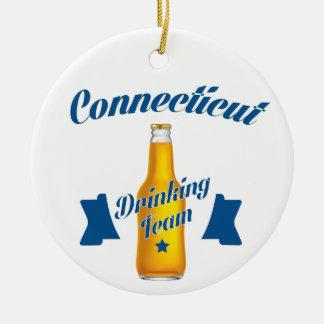 Connecticut Drinking team Ceramic Ornament