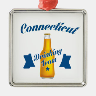 Connecticut Drinking team Metal Ornament