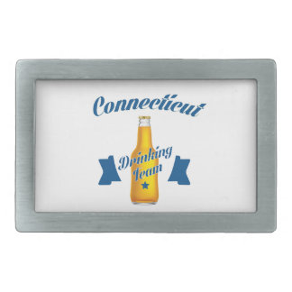 Connecticut Drinking team Rectangular Belt Buckles