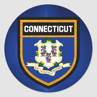 Connecticut Flag Classic Round Sticker