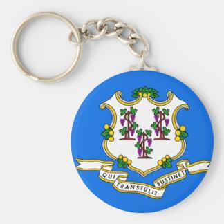 Connecticut Flag Keychain