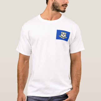 Connecticut Flag + Map T-Shirt
