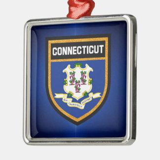 Connecticut Flag Metal Ornament