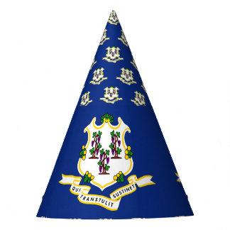 CONNECTICUT FLAG PARTY HAT