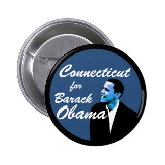 Connecticut for Barack Obama Pinback Button