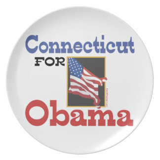Connecticut for Obama Plate